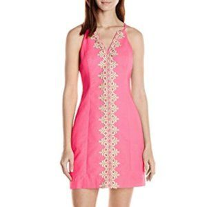 Lilly Pulitzer   Pink Sleeveless Embriodered Dress